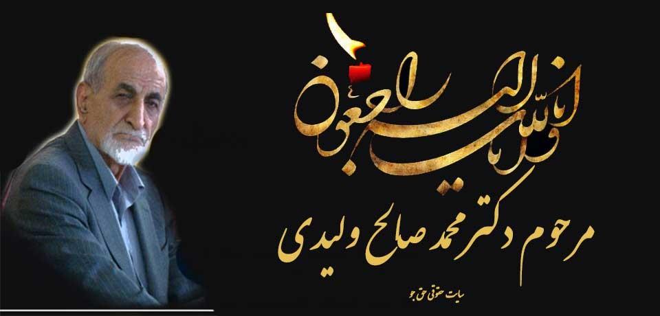 محمد صالح ولیدی درگذشت/زندگینامه